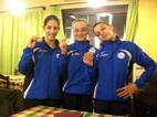 Chiara Carena, prima; Chiara Andreetta, seconda, Martina Perlo terza; VOLTEGGIO