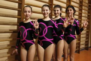 Sofia Bongioanni, Chiara Demilito; Alessia Bassignana, Carolina Arba. III ASSOLUTA  a squadre (3)