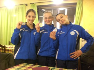 Chiara Carena, prima; Chiara Andreetta, seconda; Martina Perlo, terza. VOLTEGGIO