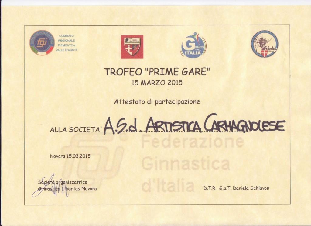 Trofeo Prime Gare-Novara 15 marzo 2015